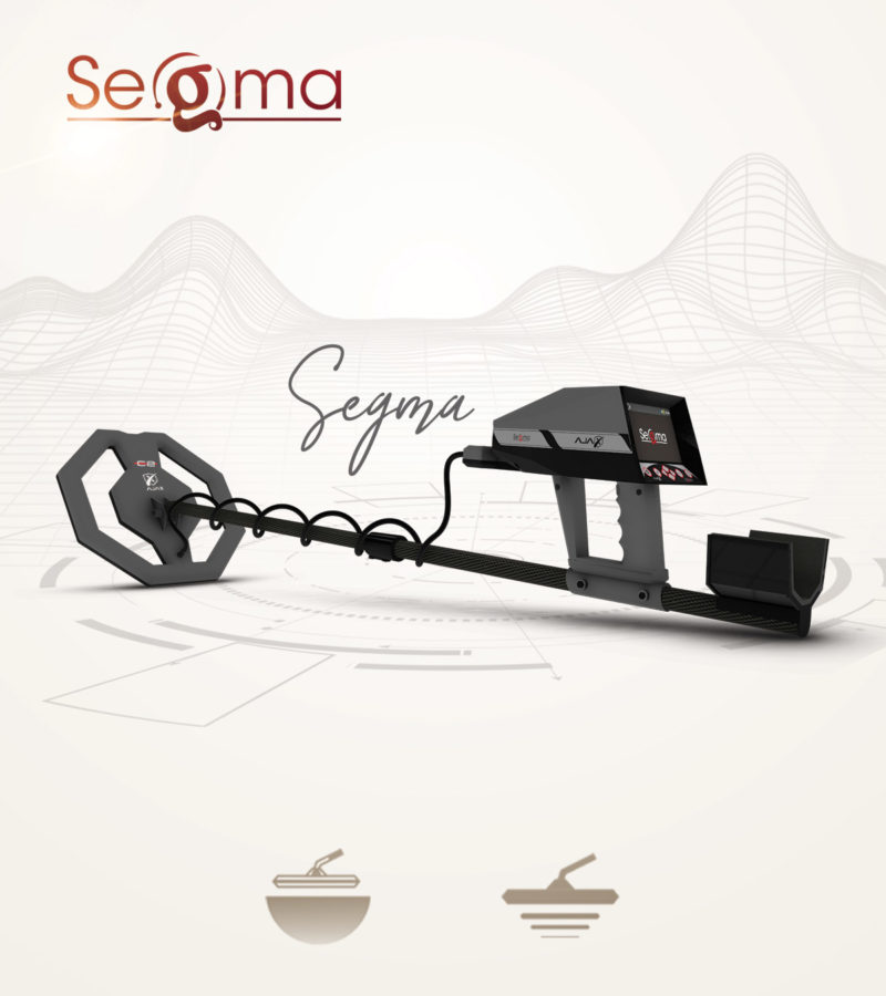 Metal Detector & Treasures and Gold Detector Ajax Segma with Smart Pulse System and Spectrum Analyzer